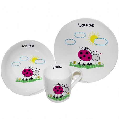 Personalised Ladybird Breakfast Set